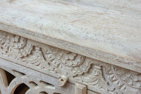 Przeszkolna komoda bielona i piaskowana - Orange Tree meble indyjskie