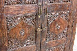 Stara brązowna szafa indyjska - Orange Tree meble indyjskie