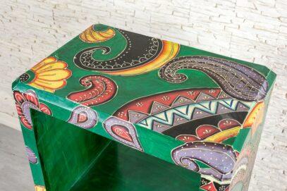 Kolorowy regał - Orange Tree meble indyjskie