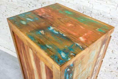Kolorowa bieliźniarka recycled - Orange Tree meble indyjskie