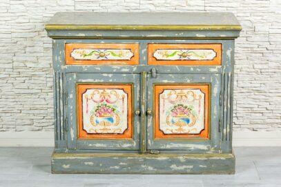 Prowansalska komoda z kwiatami - Orange Tree meble indyjskie