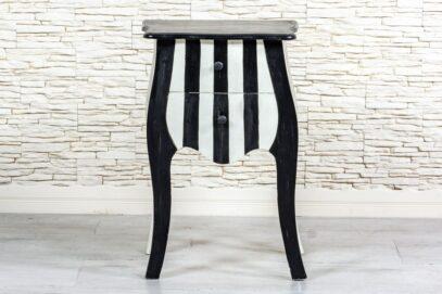 Stolik zebra z szufladami - Orange Tree meble indyjskie