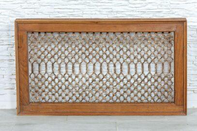 Kuty ażur w ramie tekowej panel - Orange Tree meble indyjskie