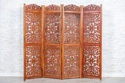 Ażurowo rzeźbiony parawan - Orange Tree meble indyjskie