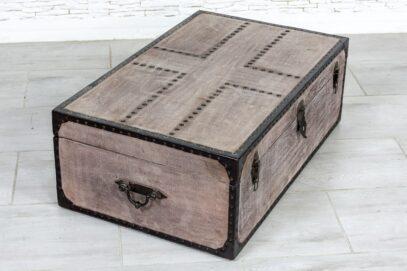 Wrzosowy kufer z płótnem - Orange Tree meble indyjskie