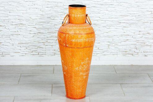 Metalowy pomarańczowy dzban - Orange Tree meble indyjskie