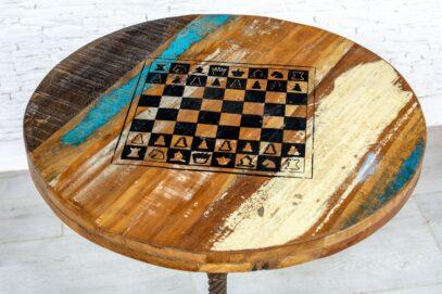 Okrągły stolik szachowy loft - Orange Tree meble indyjskie