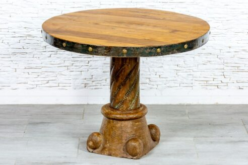 Okrągły stolik tekowy - Orange Tree meble indyjskie