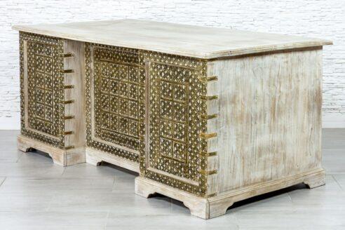 Duże biurko bielone - Orange Tree meble indyjskie
