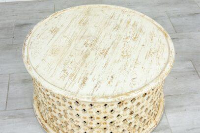 Bielony okrągły stolik - Orange Tree meble indyjskie