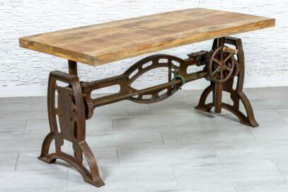 Industrialny stół z podnoszonym blatem - Orange Tree meble indyjskie