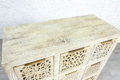 Bielona komoda z szufladami - Orange Tree meble indyjskie