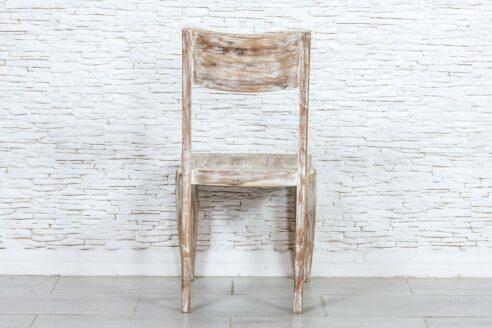 Nowoczesne krzesło bielone - Orange Tree meble indyjskie