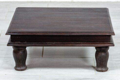Niski brązowy stolik - Orange Tree meble indyjskie