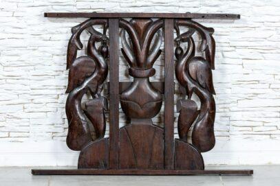 Rzeźbiony panel z pawiami - Orange Tree meble indyjskie