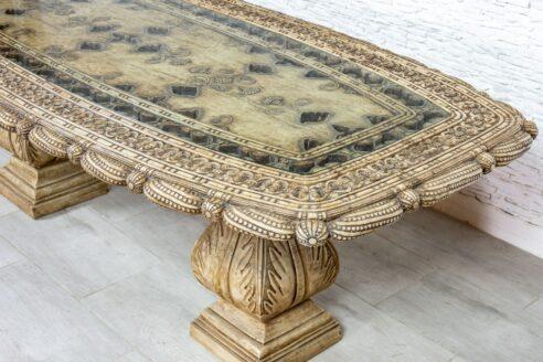 Duży stół marmurowy Makrana - Orange Tree meble indyjskie