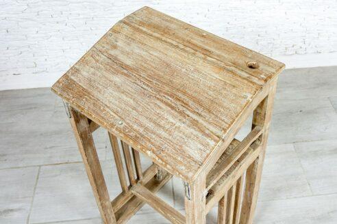 Małe biurko tekowe - Orange Tree meble indyjskie