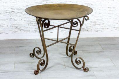 Okrągły stolik żelazny - Orange Tree meble indyjskie