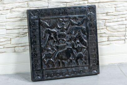 Rzeźbiony panel ze słoniem - Orange Tree meble indyjskie