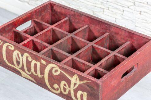 Skrzynka Coca-Cola vintage - Orange Tree meble indyjskie