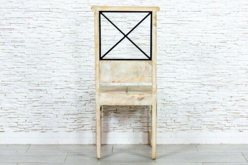 Bielone krzesło mango - Orange Tree meble indyjskie