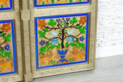 Kolorowe drzwi orientalne - Orange Tree meble indyjskie
