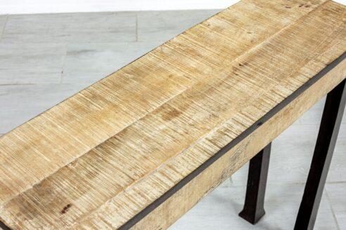 Konsola z karbowanym drewnem - Orange Tree meble indyjskie