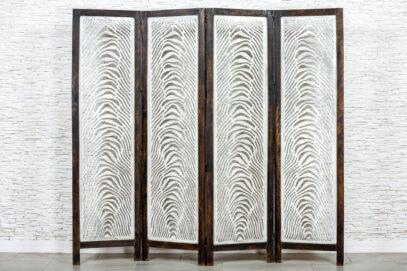 Biały parawan zebra - Orange Tree meble indyjskie