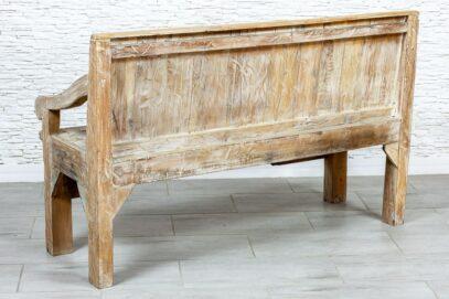 Kolorowa ławka drewniana - Orange Tree meble indyjskie