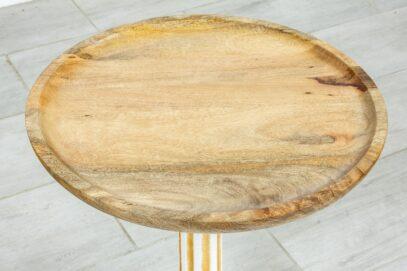 Okrągły żeliwny stolik - Orange Tree meble indyjskie
