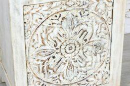 Bielona szafka z mandalą - Orange Tree meble indyjskie