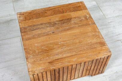 Niski kwadratowy stolik tekowy - Orange Tree meble indyjskie