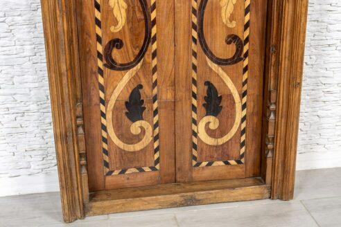 Stare drzwi tekowe z pawiami - Orange Tree meble indyjskie
