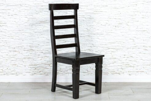 Czarne klasyczne krzesło - Orange Tree meble indyjskie