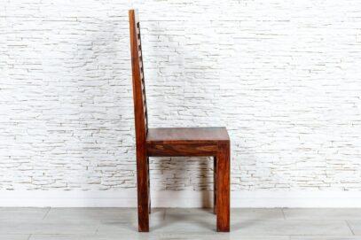 Brązowe krzesło z plecionką - Orange Tree meble indyjskie