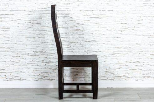 Brązowe krzesło z kratką - Orange Tree meble indyjskie