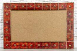 Czerwona rama z mosiądzem - Orange Tree meble indyjskie