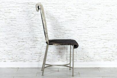 Chromowane krzesło ze skórą - Orange Tree meble indyjskie