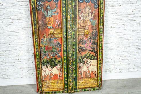Kolorowe drzwi - Orange Tree meble indyjskie