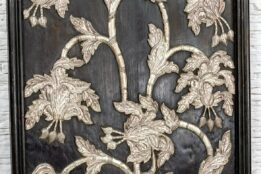 Panel ze srebrną rośliną - Orange Tree meble indyjskie
