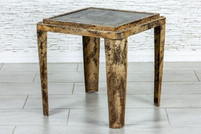 Industrialny stolik z nitami - Orange Tree meble indyjskie