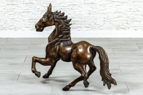 Rzeźba konia mosiądz - Orange Tree meble indyjskie