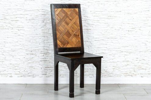 Dwukolorowe krzesło tekowe - Orange Tree meble indyjskie