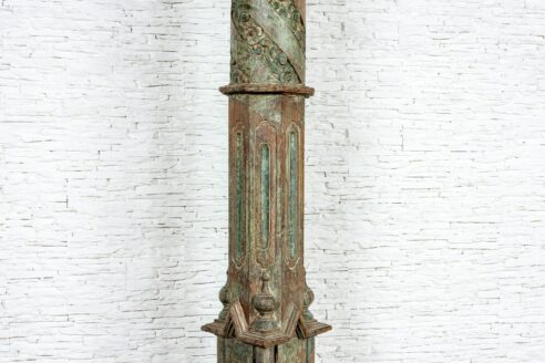 Stara kolumna tekowa - Orange Tree meble indyjskie