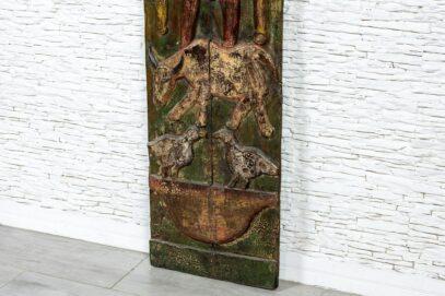 Drewniany panel sztuka prymitywna - Orange Tree meble indyjskie