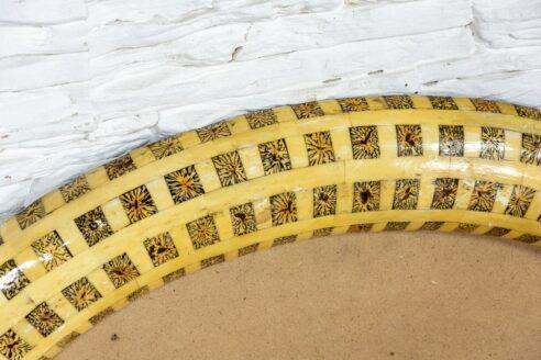 Eliptyczna rama zdobiona kością - Orange Tree meble indyjskie