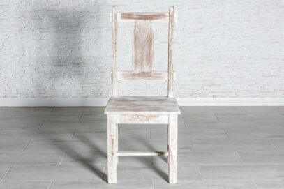 Bielone przecierane krzesło - Orange Tree meble indyjskie