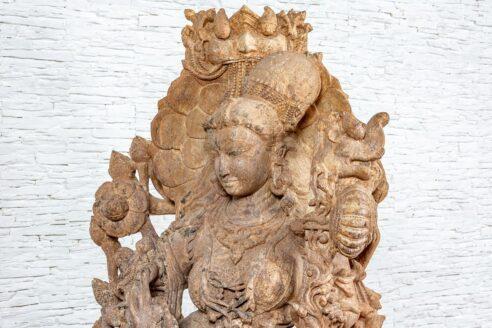 Kamienna rzeźba Saraswati - Orange Tree meble indyjskie