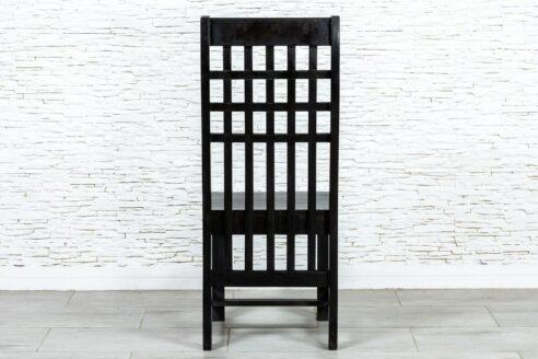 Czarne krzesło z kratką - Orange Tree meble indyjskie