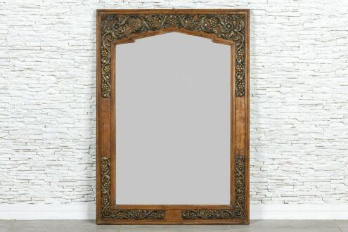 Tekowe lustro z mosiądzem - Orange Tree meble indyjskie